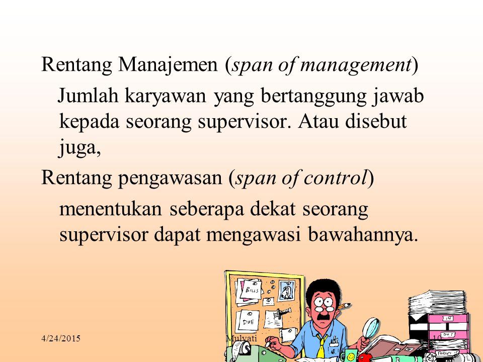 Rentang Manajemen (span of management)