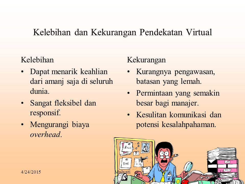Kelebihan dan Kekurangan Pendekatan Virtual