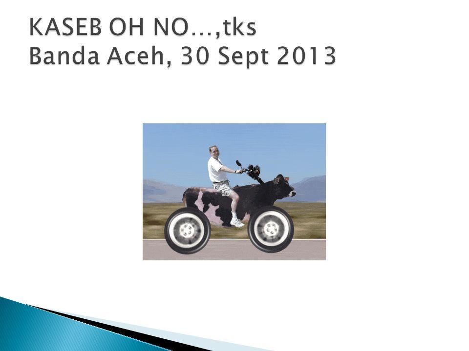 KASEB OH NO…,tks Banda Aceh, 30 Sept 2013