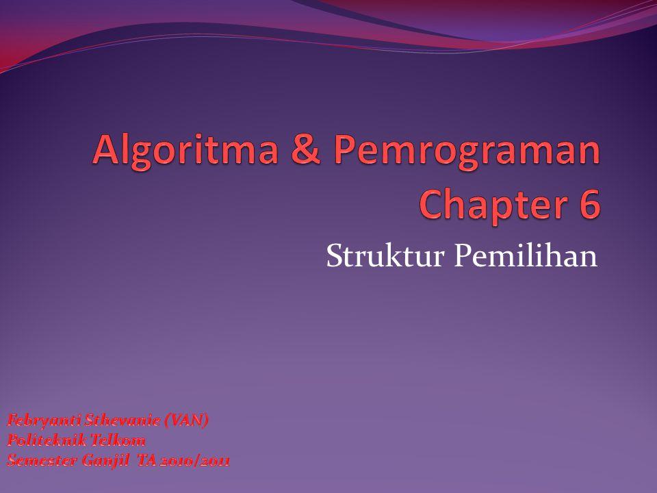 Algoritma & Pemrograman Chapter 6