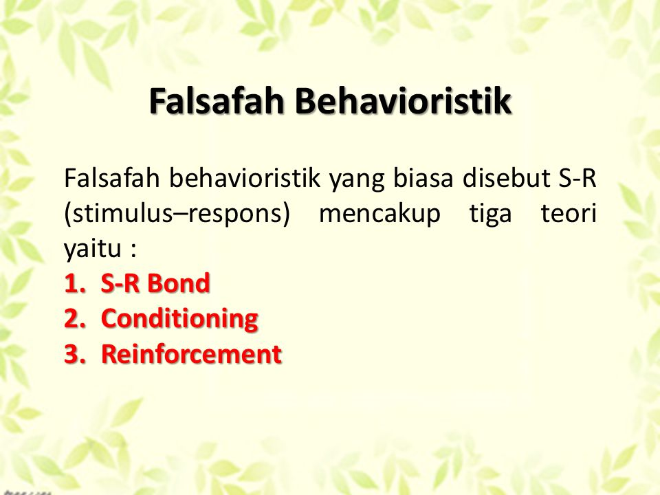 Falsafah Behavioristik