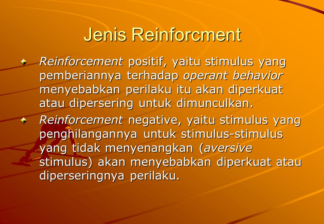 Jenis Reinforcment