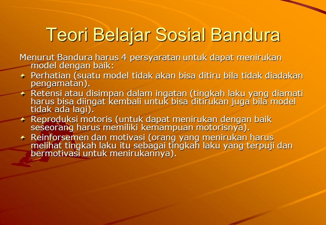 Teori Belajar Sosial Bandura