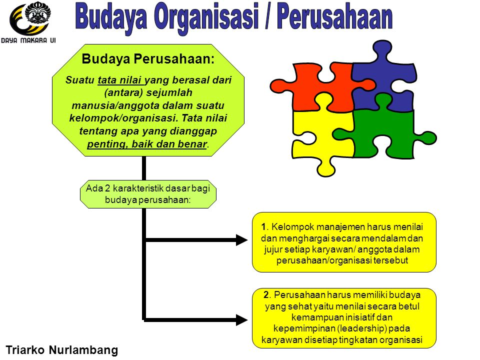 Budaya Organisasi / Perusahaan