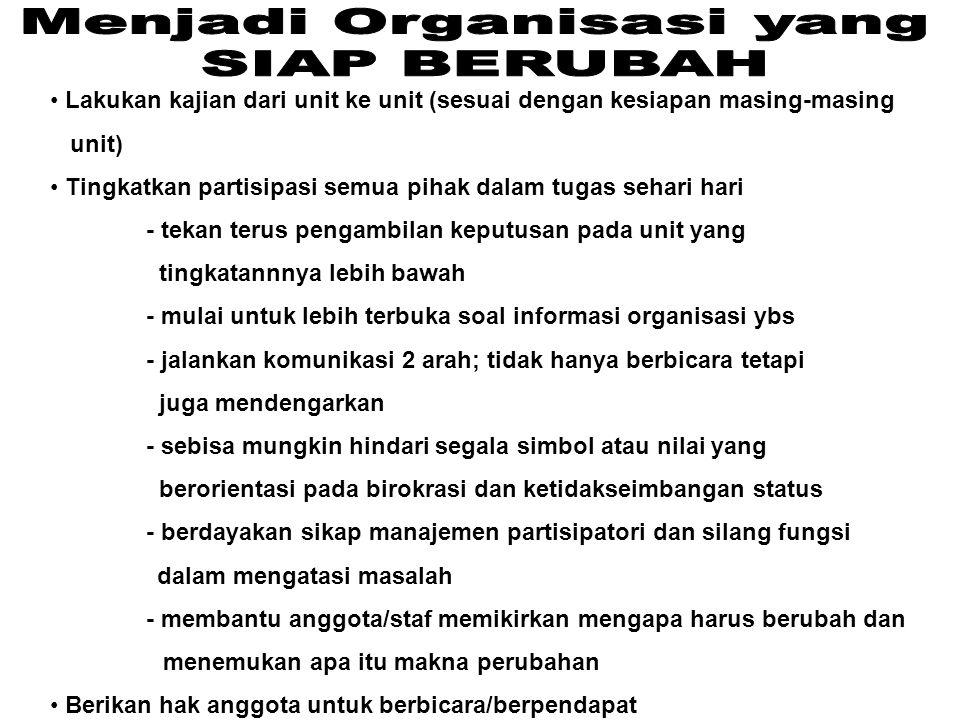 Menjadi Organisasi yang