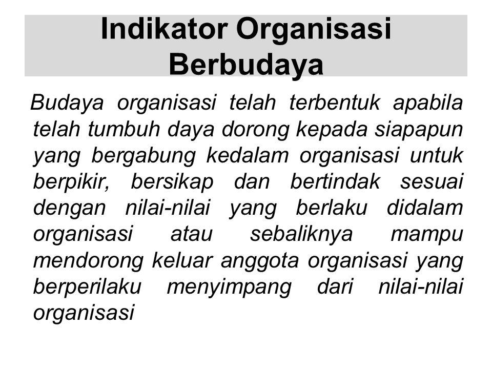Indikator Organisasi Berbudaya