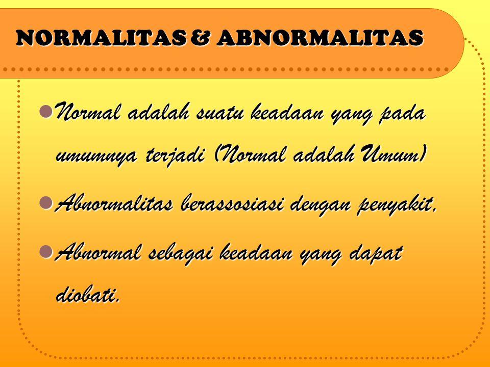 NORMALITAS & ABNORMALITAS