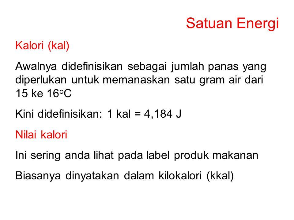 Satuan Energi Kalori (kal)