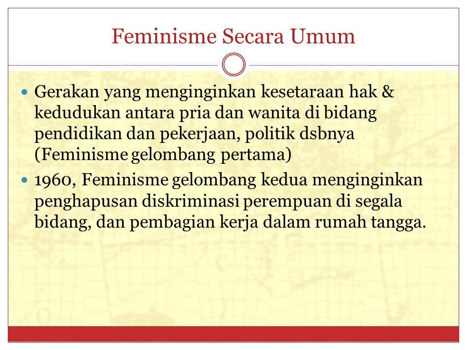 Feminisme Secara Umum