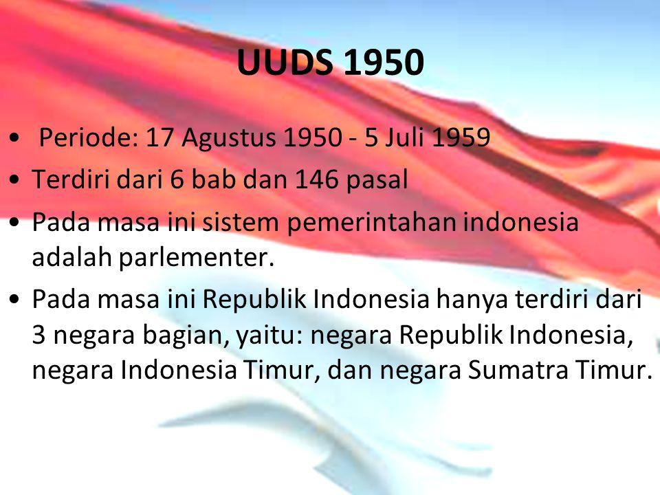 UUDS 1950 Periode: 17 Agustus 1950 - 5 Juli 1959