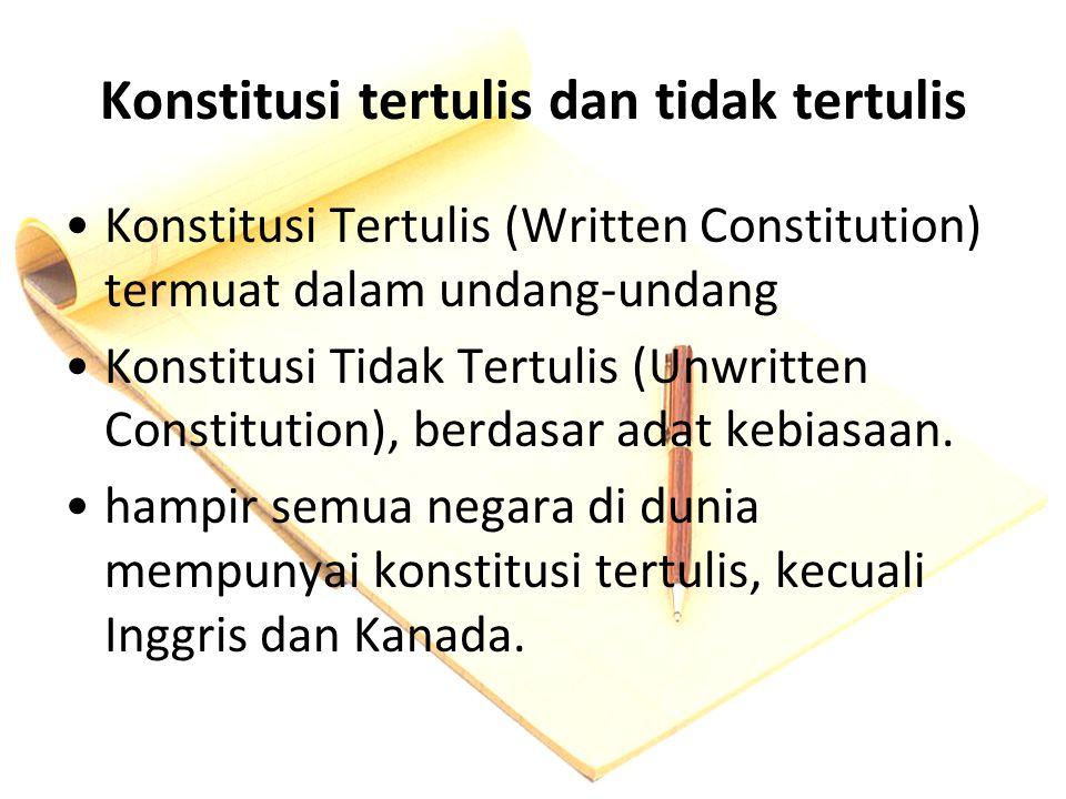 Konstitusi tertulis dan tidak tertulis