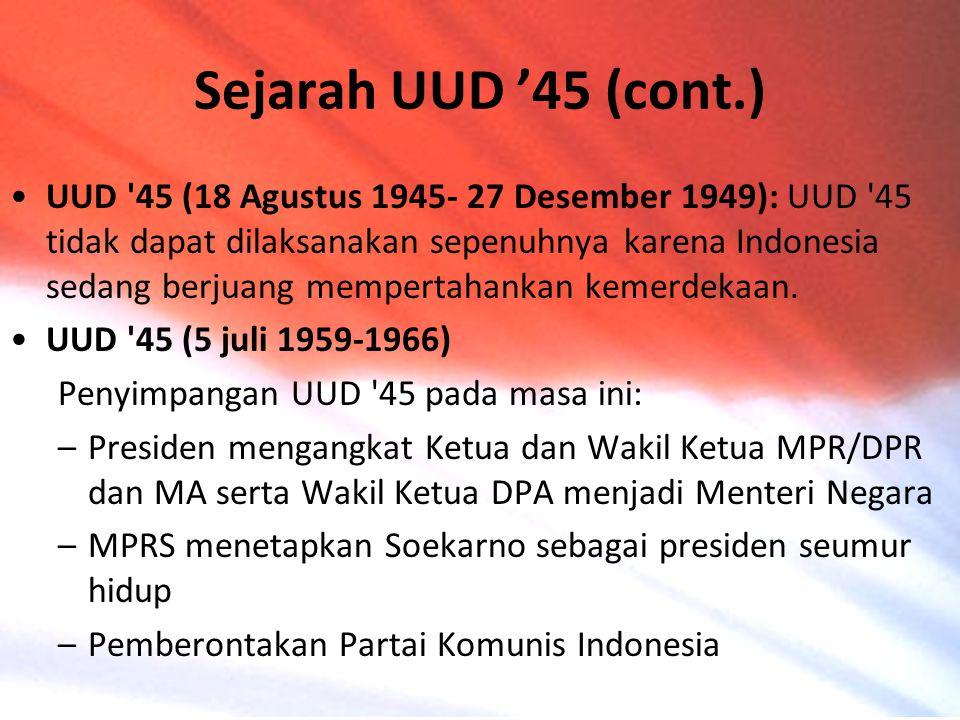 Sejarah UUD '45 (cont.)