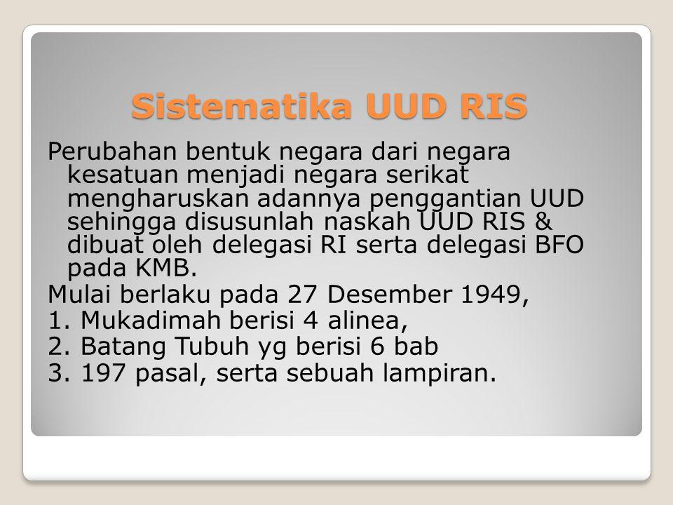 Sistematika UUD RIS