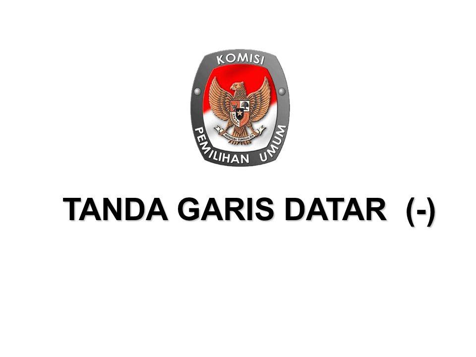 TANDA GARIS DATAR (-)