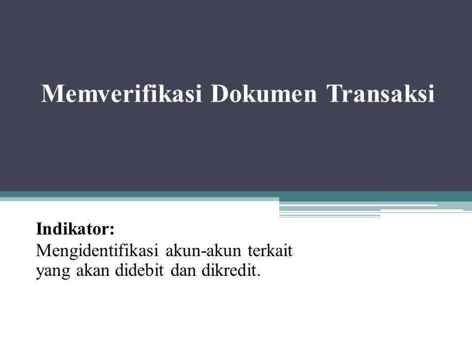 Memverifikasi Dokumen Transaksi