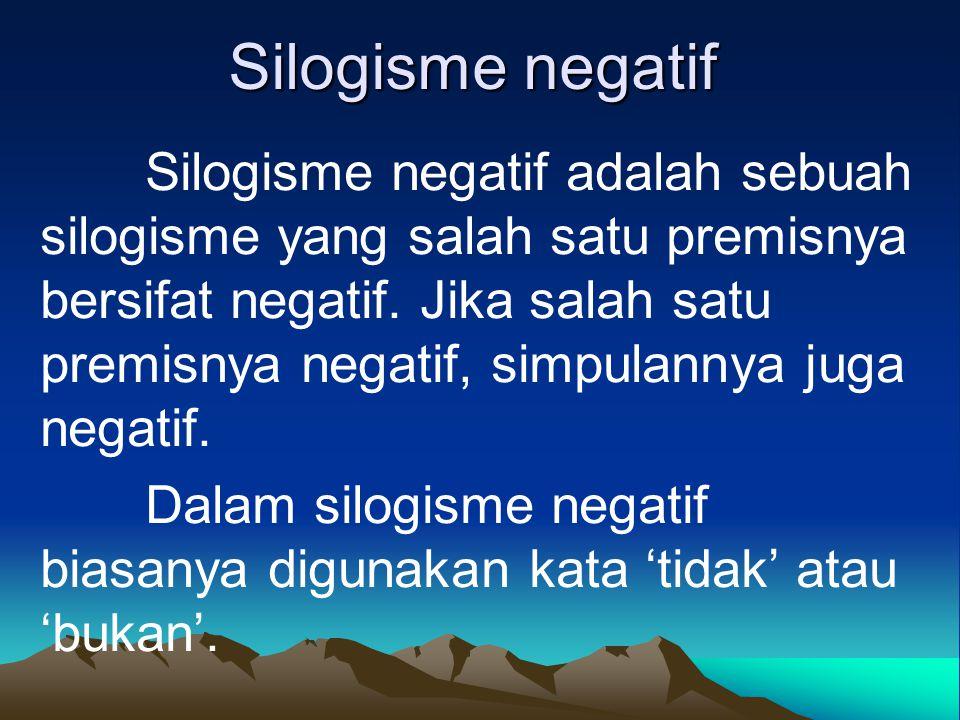 Silogisme negatif