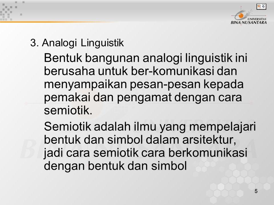 3. Analogi Linguistik