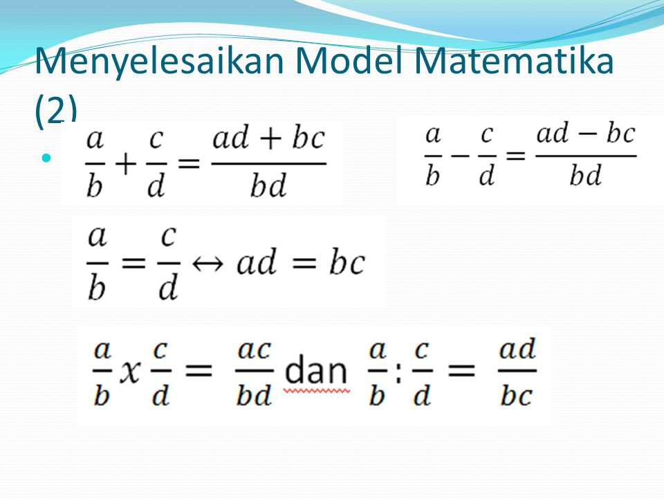 Menyelesaikan Model Matematika (2)