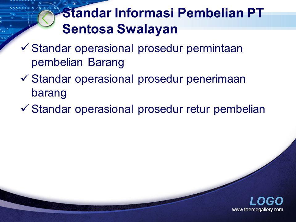 Standar Informasi Pembelian PT Sentosa Swalayan