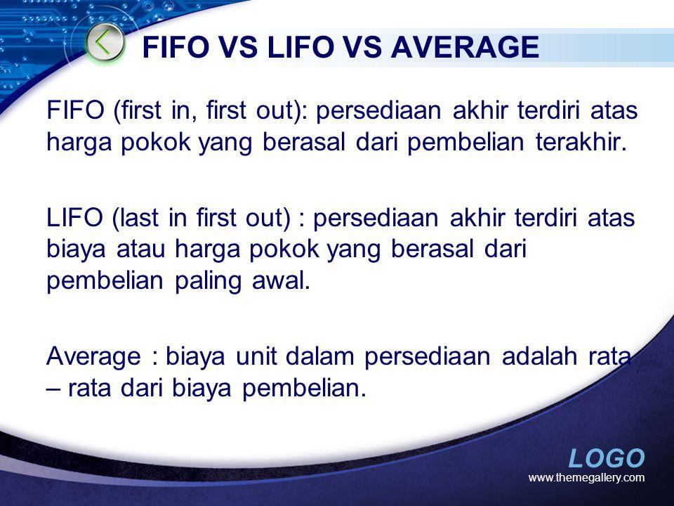 FIFO VS LIFO VS AVERAGE