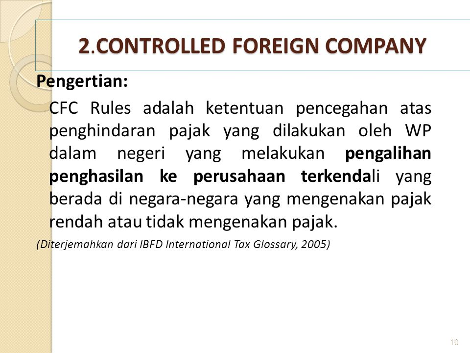 2.CONTROLLED FOREIGN COMPANY