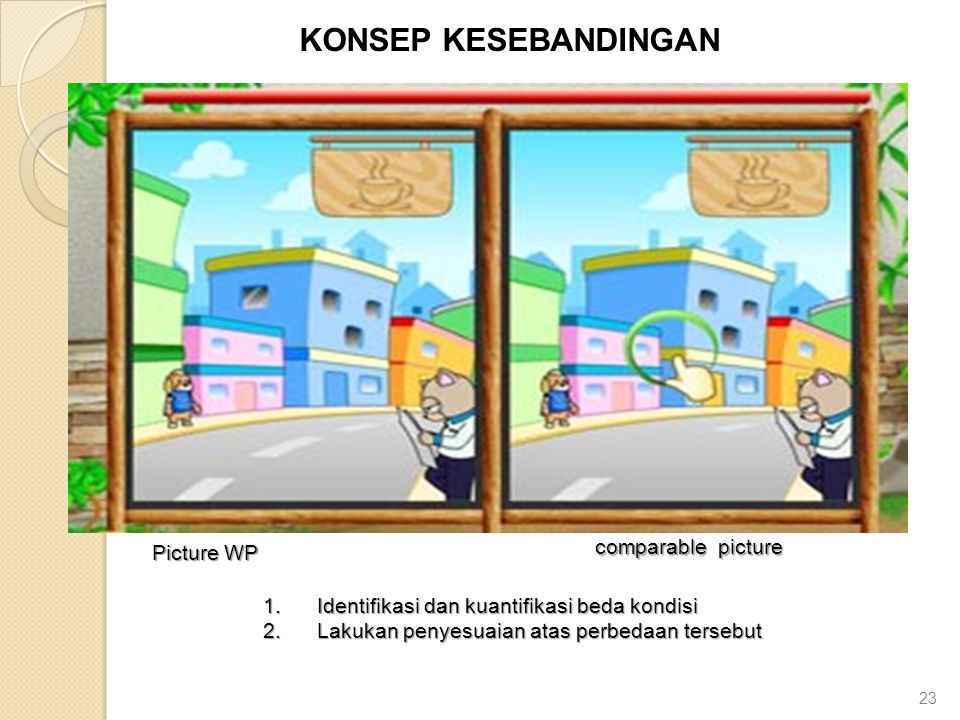 KONSEP KESEBANDINGAN comparable picture Picture WP