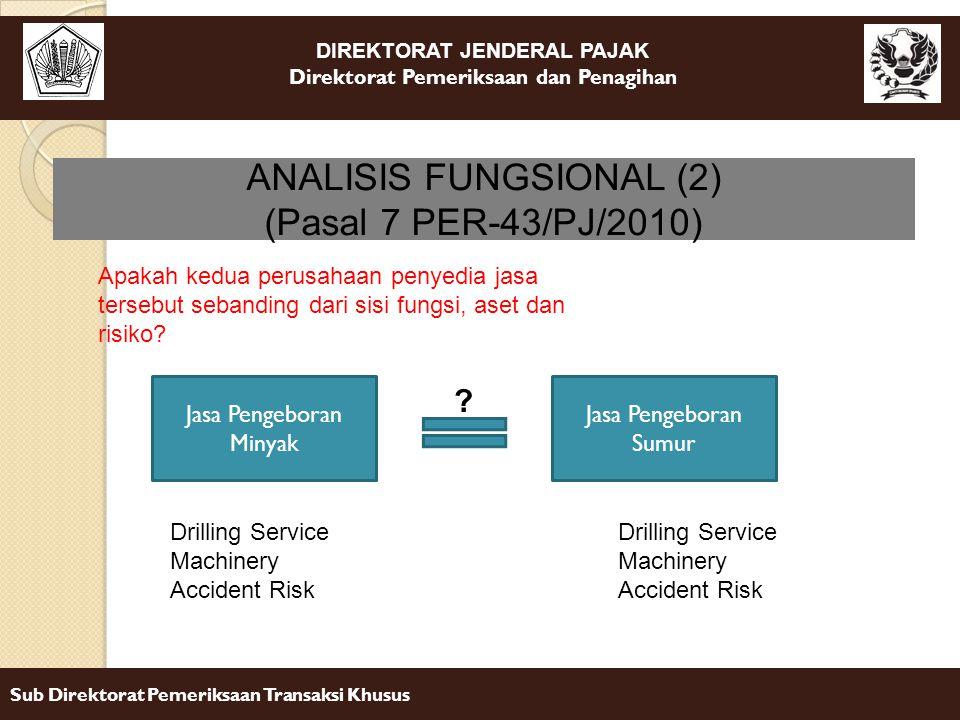 ANALISIS FUNGSIONAL (2) (Pasal 7 PER-43/PJ/2010)