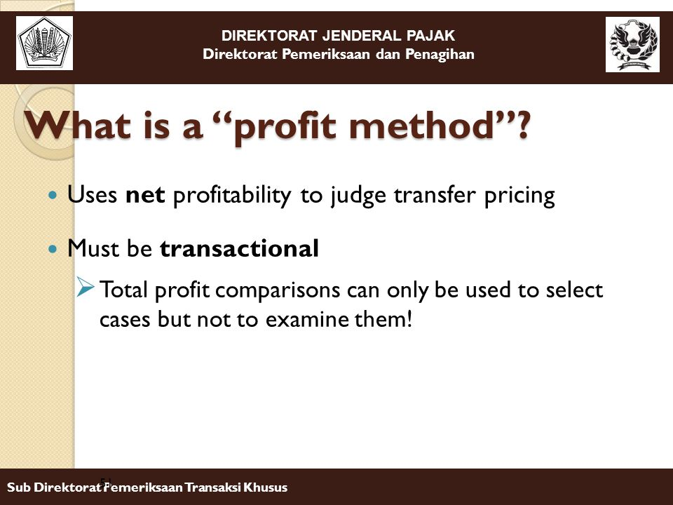 What is a profit method