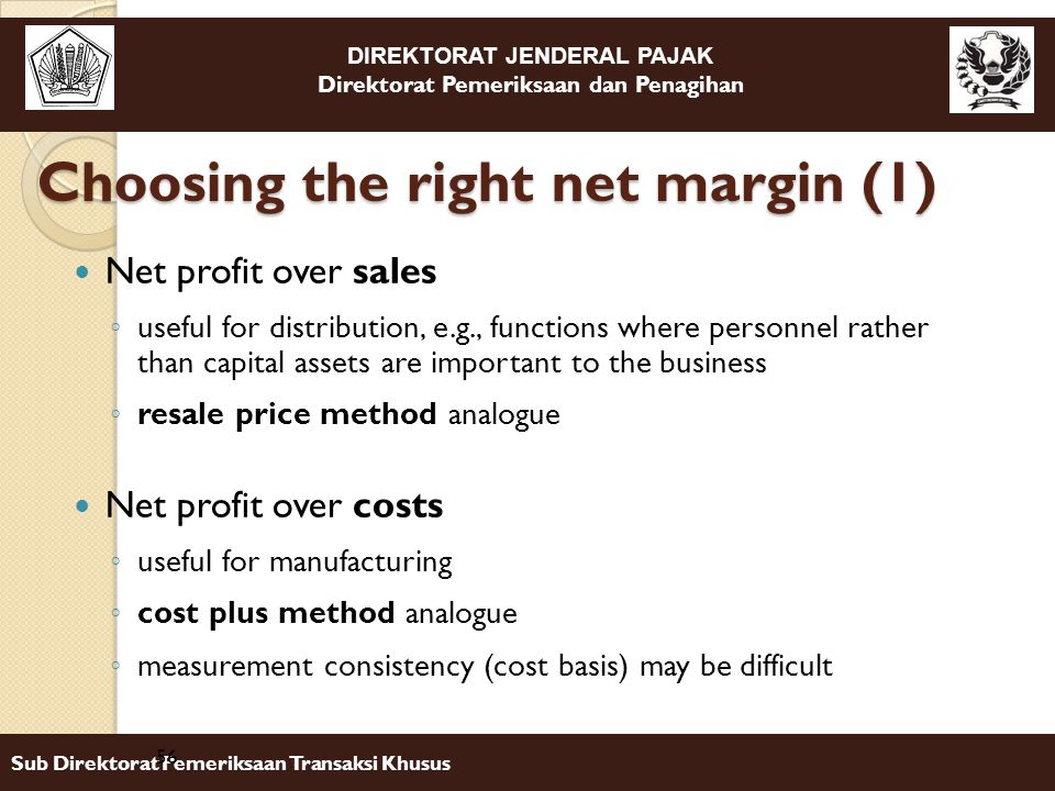 Choosing the right net margin (1)