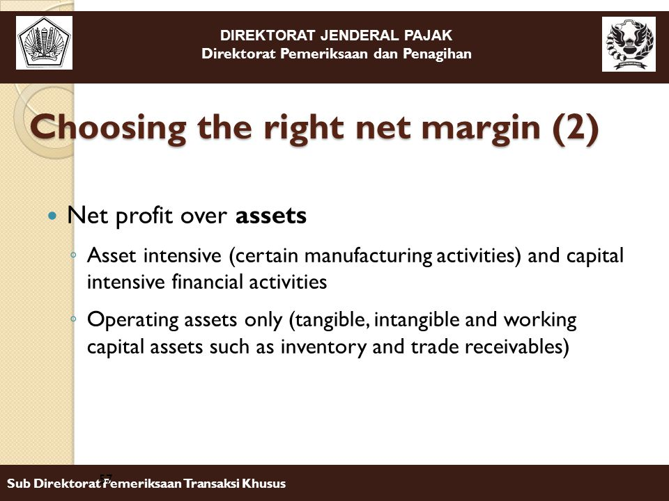 Choosing the right net margin (2)