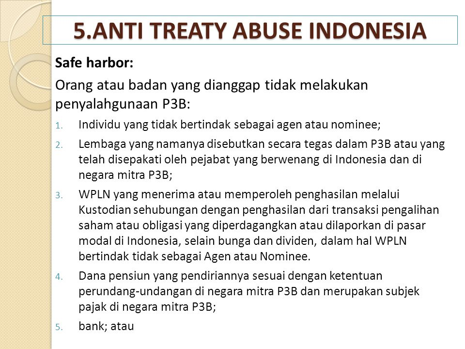 5.ANTI TREATY ABUSE INDONESIA