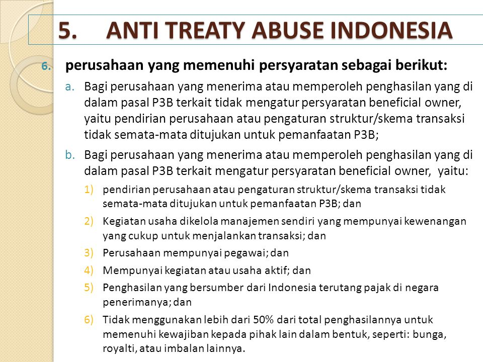 5. ANTI TREATY ABUSE INDONESIA