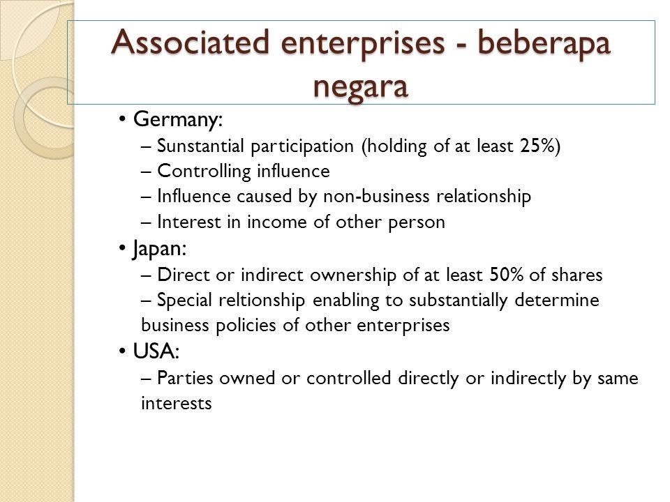 Associated enterprises - beberapa negara