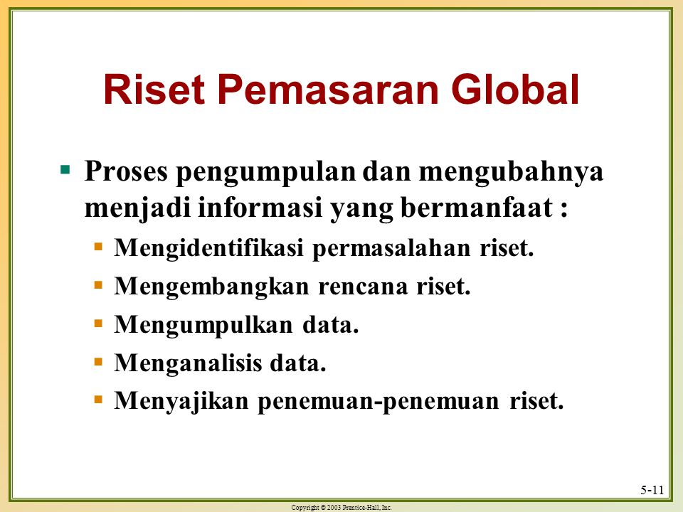 Riset Pemasaran Global