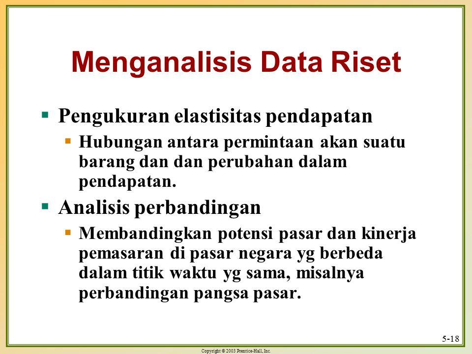 Menganalisis Data Riset