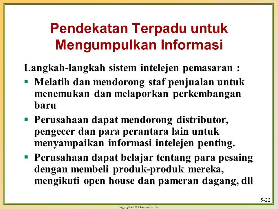 Pendekatan Terpadu untuk Mengumpulkan Informasi