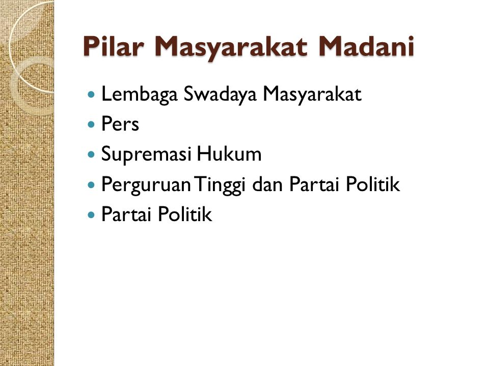 Pilar Masyarakat Madani