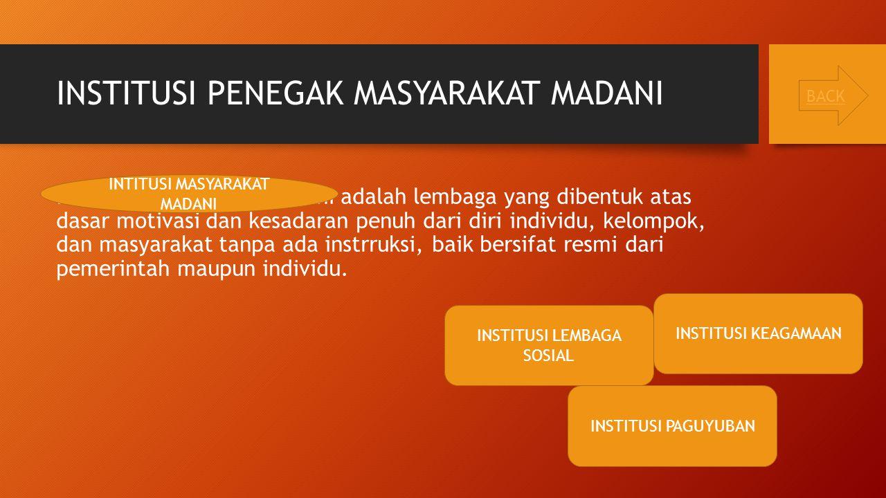 INSTITUSI PENEGAK MASYARAKAT MADANI