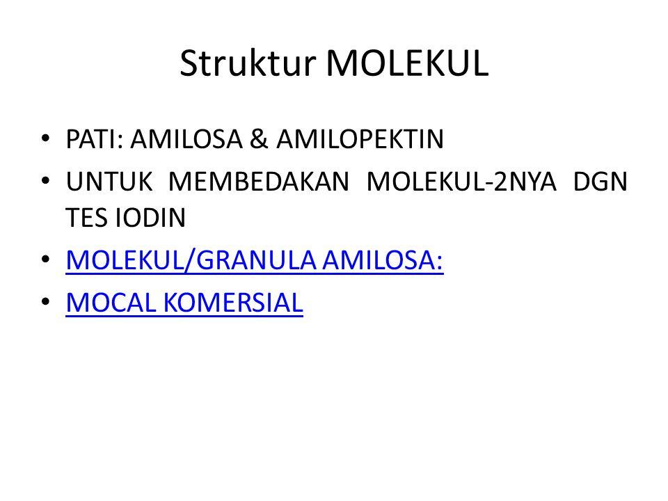Struktur MOLEKUL PATI: AMILOSA & AMILOPEKTIN