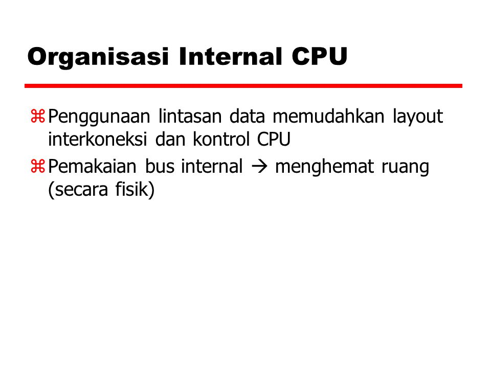 Organisasi Internal CPU