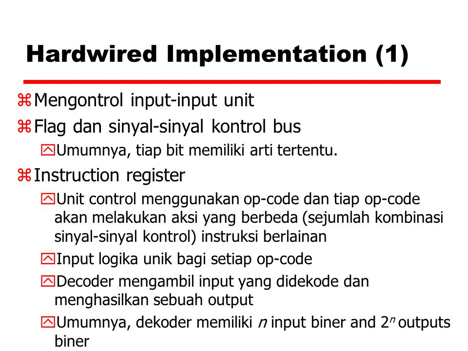 Hardwired Implementation (1)