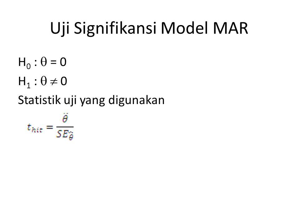 Uji Signifikansi Model MAR