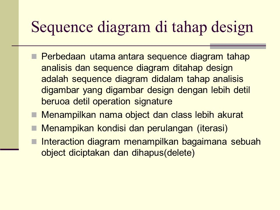 Sequence diagram di tahap design