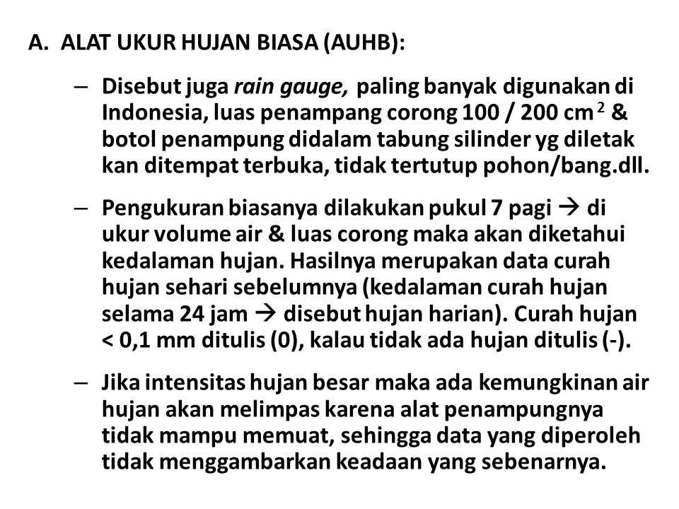 ALAT UKUR HUJAN BIASA (AUHB):