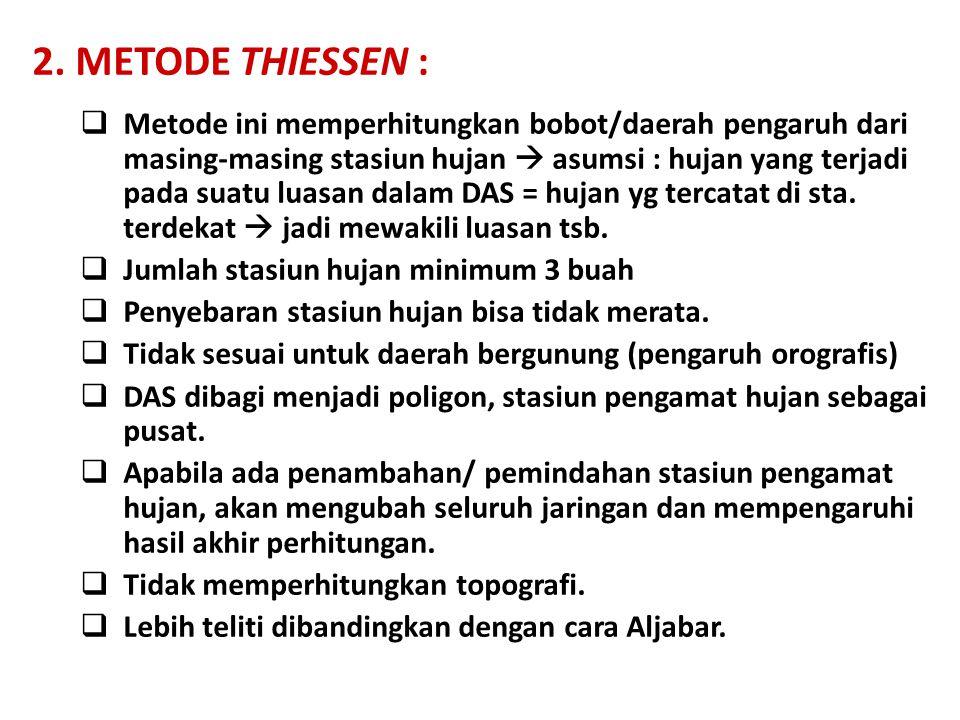 2. METODE THIESSEN :