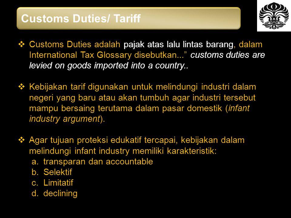 Customs Duties/ Tariff