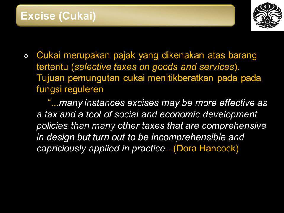 Excise (Cukai)