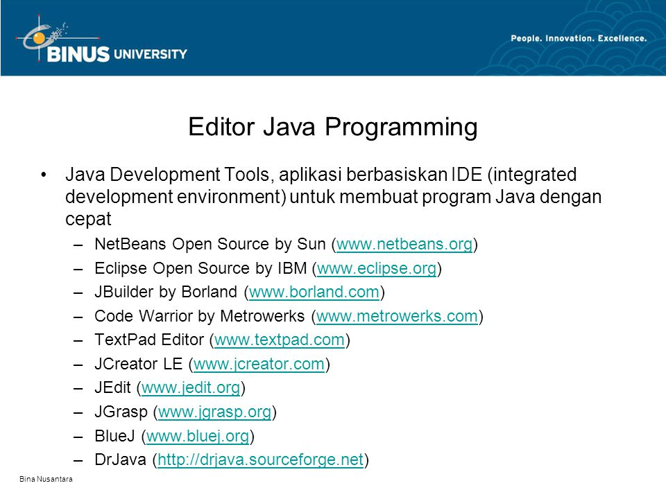 Editor Java Programming