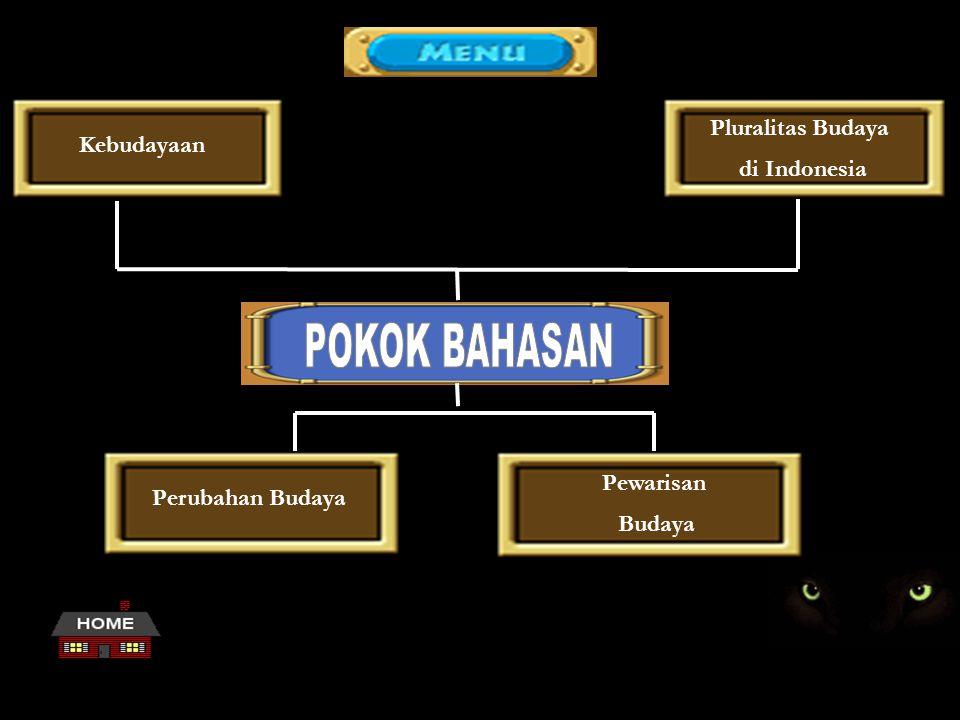POKOK BAHASAN Pluralitas Budaya di Indonesia Kebudayaan Pewarisan