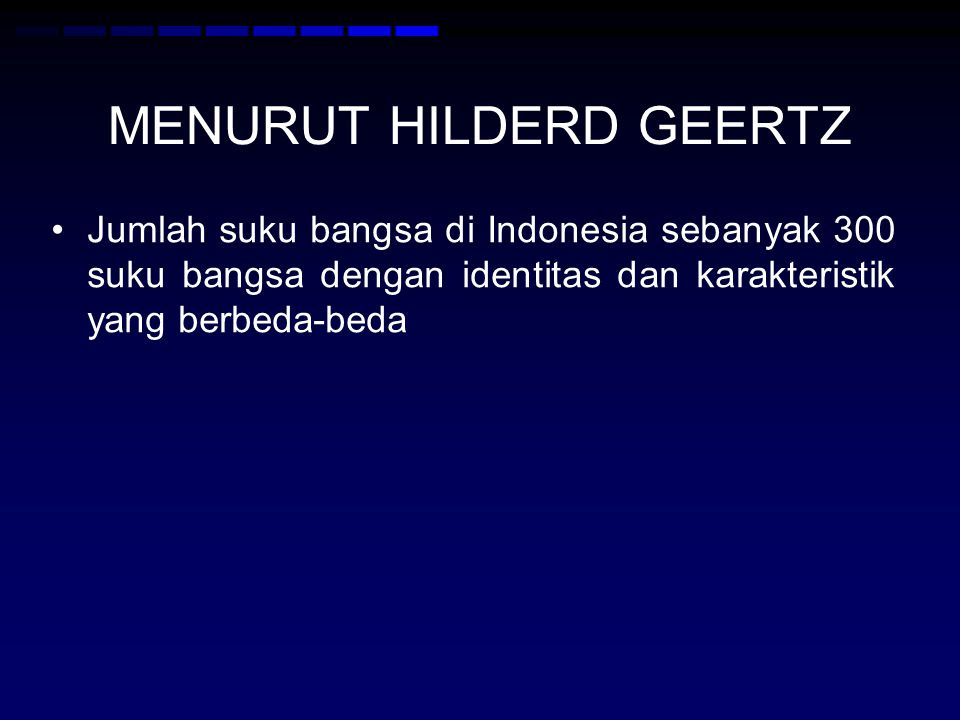 MENURUT HILDERD GEERTZ